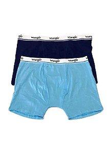 Par de Cuecas Boxer WMUW001 Preto , Azul - Wrangler
