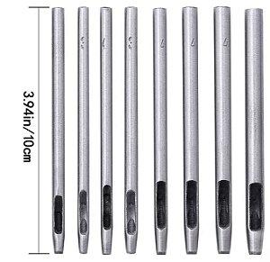VAZADOR DE COURO REDONDO 0,5mm a 4mm