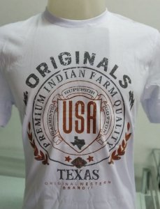 CAMISETA INDIAN FARM BRANCA TEXAS