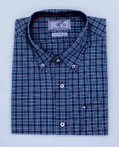 CAMISA RIVERTON XADREZ MC 030471 REGULAR FIT