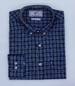 CAMISA RIVERTON AZUL ML 020510 SLIN FIT