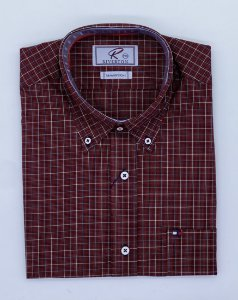 CAMISA RIVERTON VERMELHA MC 030493 REGULAR FIT