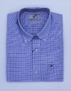 CAMISA RIVERTON AZUL 030535 MC REGULAR FIT