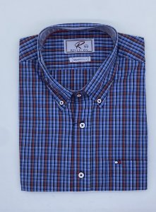 CAMISA RIVERTON AZUL MC 030519 REGULAR FIT
