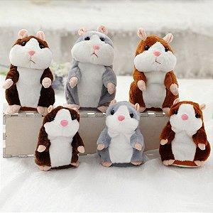 Hamster falante Repete O Que Fala Pelucia Estilo Talking Tom