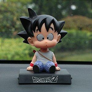 Boneco do Goku Balança a Cabeça e Porta Celular