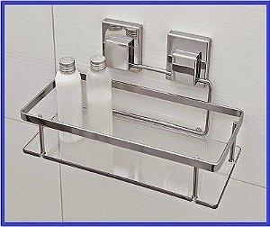 Prateleira Suporte Porta Shampoo Fixação Por Ventosa