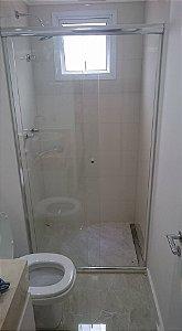 Box de Banheiro Porta de Correr Frontal Vidro Temperado