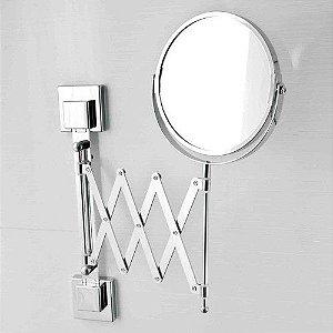 Espelho Aumento 3x Móvel De Parede Fixação Por Ventosa Aço Inox - Linha Smartloc Ou