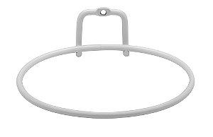 Suporte de Metal para Vaso de Planta Grande cor Branco Fosco - Linha Plantar Ou