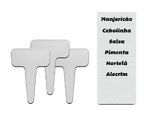 Kit com Plaquinhas Identificador de Vasos - Linha Plantar Ou
