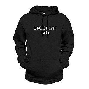 Moletom Estampado Brooklyn Flanelado Unissex Lucas Lunny Canguru
