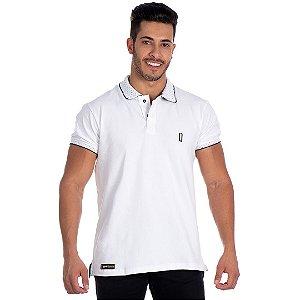 Camiseta Gola Polo Lucas Lunny Branca