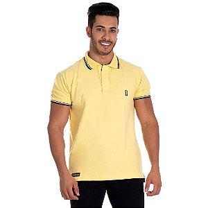 Camiseta Gola Polo Lucas Lunny Amarela