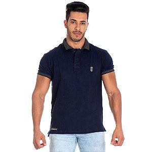 Camiseta Gola Polo Lucas Lunny Azul Marinho