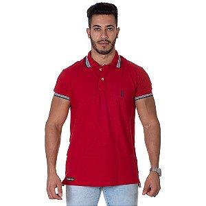 Camiseta Gola Polo Lucas Lunny Vermelha