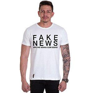Camisa Camiseta Personalizada Fake News