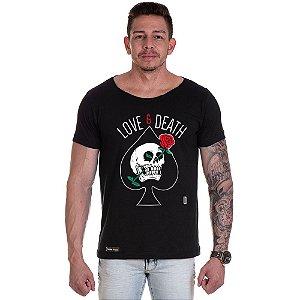 Camisa Camiseta Personalizada Caveira Love Death