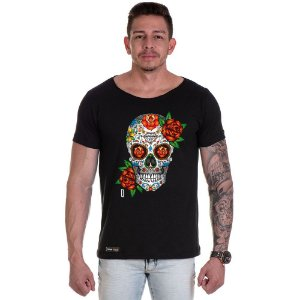 Camisa Camiseta Personalizada Caveira mexicana