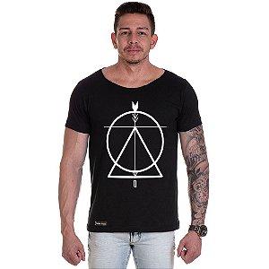 Camisa Camiseta Personalizada Não Circulo triangulo