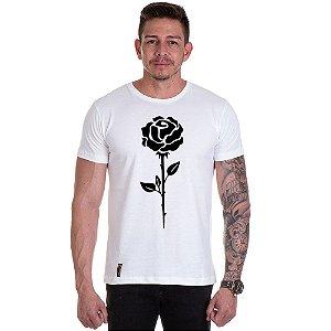 Camisa Camiseta Personalizada Rosa Preta