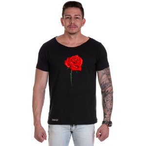 Camisa Camiseta Personalizada Rosa Peito