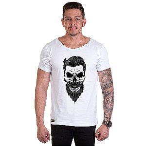 Camisa Camiseta Personalizada Caveira Topete
