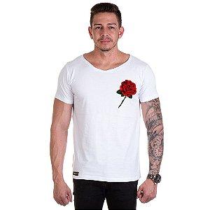 Camisa Camiseta Personalizada Rosa Lateral