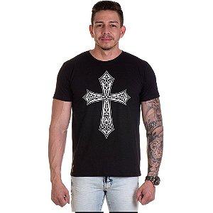 Camisa Camiseta Personalizada Cruz Detalhe