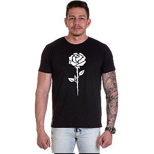 Camisa Camiseta Personalizada Rosa Branca