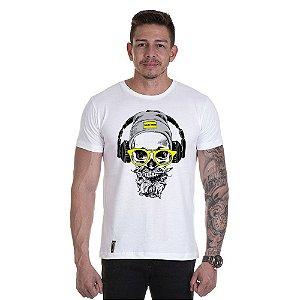 Camisa Camiseta Personalizada Caveira Fone