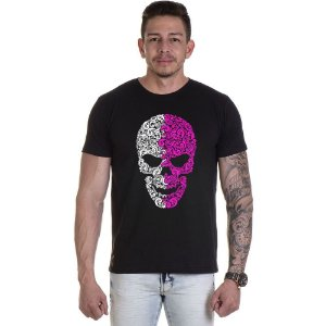 Camisa Camiseta Personalizada Caveira Dupla