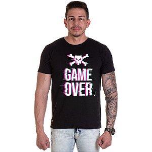 Camisa Camiseta Personalizada Game Over caveira