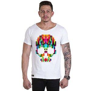 Camisa Camiseta Personalizada Caveira Pixel