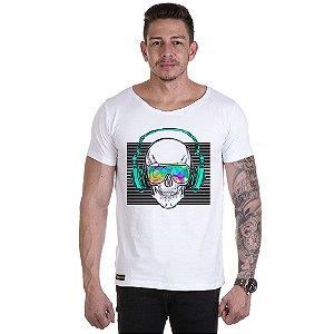 Camisa Camiseta Personalizada Caveira Fone Som