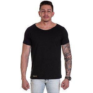 Camisa Camiseta Basica Gola Canoa