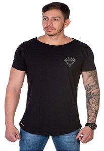 Camiseta Lucas Lunny Oversized Longline Diamante Lateral