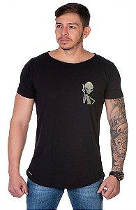Camiseta Lucas Lunny Oversized Longline  Et Lateral