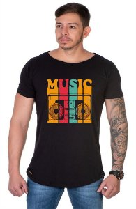 Camiseta Lucas Lunny Oversized Longline Music