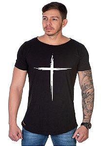 Camiseta Lucas Lunny Oversized Longline  Cruz traço