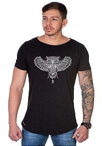 Camiseta Lucas Lunny Oversized Longline  Coruja asa