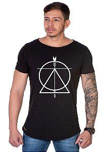 Camiseta Lucas Lunny Oversized Longline  triangulo circulo