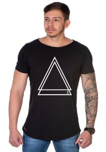 Camiseta Lucas Lunny Oversized Longline  triangulo duplo
