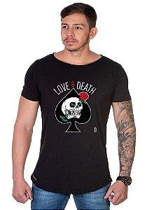 Camiseta Lucas Lunny Oversized Longline Love Death