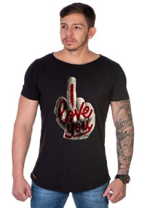 Camiseta Lucas Lunny Oversized Longline Dedo Love