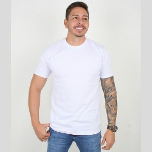 Camiseta Casual Masculina Gola Redonda Lucas Lunny Basica