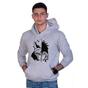 Moletom Estampado Basico Naruto Shippuden Anime Canguru Unissex Lucas Lunny Flanelado