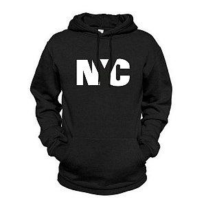 Moletom Estampado Flanelado New York City Unissex Lucas Lunny Canguru Basico