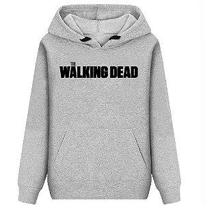 Moletom Estampado Flanelado The Walking Dead Unissex Lucas Lunny Canguru Basico