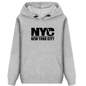 Moletom Casual Estampado New York City Unissex Lucas Lunny Basico Capuz